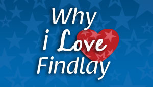 why i love findlay logo