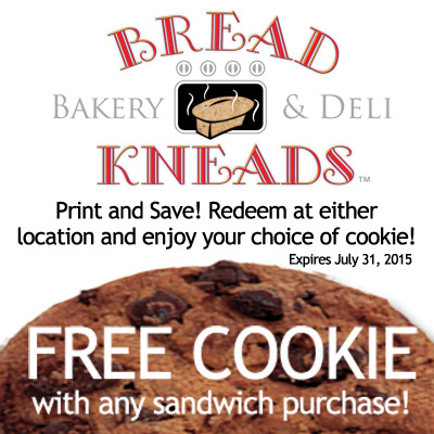 bread kneads free cookie coupon