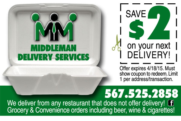 middleman delivery service coupon