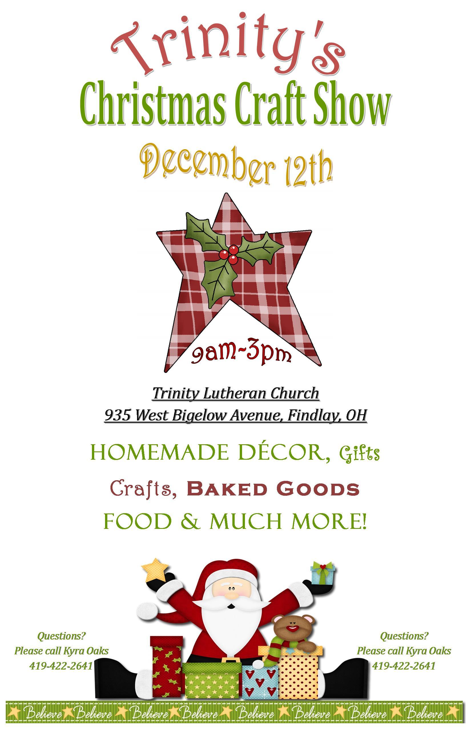 Trinity's Christmas Craft Show @ Trinity Lutheran Church | Findlay | Ohio | United States