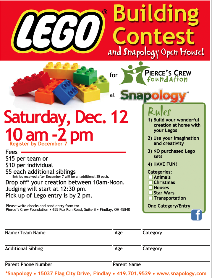 Lego® Building Contest @ Snapology | Findlay | Ohio | United States