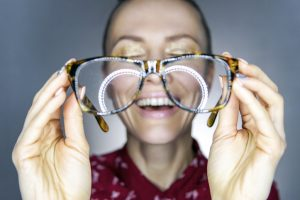 Funny woman with eyeglasses
