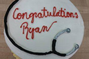 graduation cake new job cake