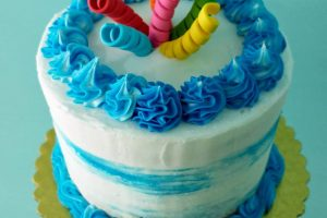 party cake buttercream icing decorated