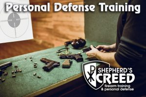 Male Checking Firearm Safety Before Proceeding With Training On Gun Range