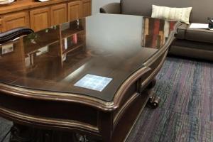 office desk riverside glass top